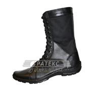 Берцы (ботинки) Омон-3, облегченные на молнии цв.черный фото