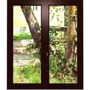 Пластиковые окна, цвет-золотой дуб/махагон, с тройным остеклением фото