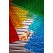 Сотовый поликарбонат, лист 4 мм (Цветной) фото