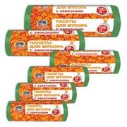 Мусорные пакеты с завязками Prosto Chis Paketi dl.musora zavyazk.Tsvetn. 120L 18 х 10 sht фото