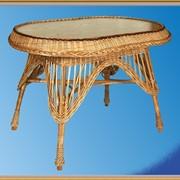 Стол овальный оплетеный. Плетеная мебель из лозы.(ОПТ) фото