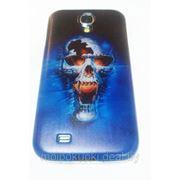 Задняя накладка для Samsung GT-I9500 Galaxy S IV череп синяя фото