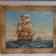 Картина Морской пейзаж, XIX век фото