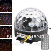 Светомузыка - магический кристалл, светодиодный праздник, огни дискотеки, бар с освещением спикер музыки фото
