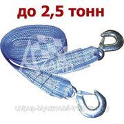 Трос буксировочный 2,5 т + 2 крюка (пакет) фото