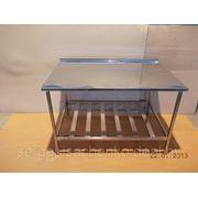 Стол производственный с полкой-решёткой полностью из нержавеющей стали (ДхШхВ) 950х570х860 фото