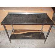 Стол производственный со сплошной полкой полностью из нержавеющей стали (ДхШхВ) 600х570х860 фото