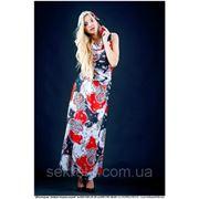 Платье 1141 шифон цветы