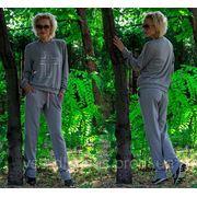Спорт костюм Крест/ИЛ/ светло-серый НА ФЛИСЕ фото