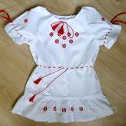 Платье для девочки вышитое, недорого фото