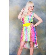 Платье шифоновое разноцвет пояс ромашка