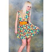 Платье шифоновое цветы пояс ромашка