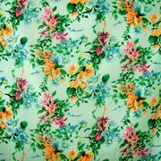 Шифон принт (цветочный рисунок) фото