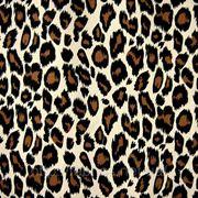 Коттон стрейчевый набивной «Панач» (леопард) фото