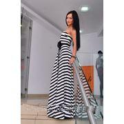 Платье в пол Полоска фото