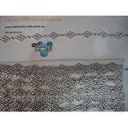 Тесьма серебро 9м в упак фото