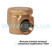 Газовый фильтр Ду15мм латунный прямой фото