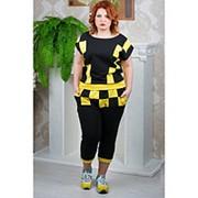 Женский спортивный костюм шахматка с бриджами в расцветках фото