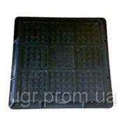 Люк 1,5 т (черный, квадрат) фото