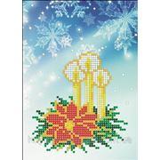 Набор для вышивки бисером Рождественская открытка. Арт. НРк-002 фото
