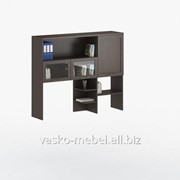 Надстройка для стола, Васко СОЛО-026 Корпус венге, фасад венге/стекло фото