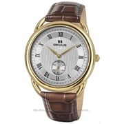 Часы Seculus Vivaldi 4483.2.1069 pvd-y, white dial, brown leather фото
