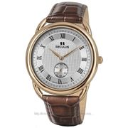 Часы Seculus Vivaldi 4483.2.1069 pvd-r case, white dial, brown leather фото