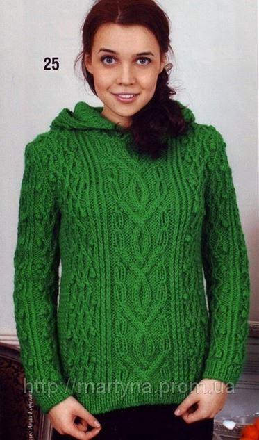 вязаный свитер с капюшоном в киеве вязание ателье мартина на
