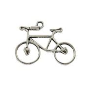 "Подвеска ""Велосипед"", античное серебро, 31х23 мм, 1 шт фото"