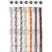Нити- кисея меланжевые (двухцветные) фото
