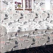 Ткань с газетнвм принтом фото