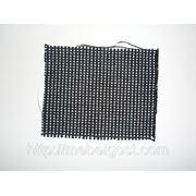Ткань для офисных стульев С-26 белый с черным фото