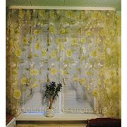 "Кухонная штора ""оливка пион"" фото"