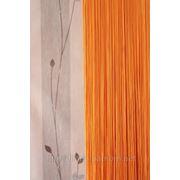 Шторы нити однотонные оранжевый фото