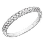 Кольцо с бриллиантами из белого золота фото