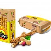 Соломка с ирисо-сливочным ароматом глазированная карамельной глазурью с арахисом фото