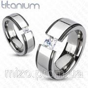 Титановое кольцо с фианитами (CZ) R-TM-3097 фото