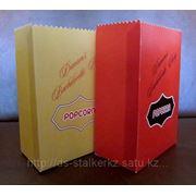 Пакет бумажный для поп-корна. фото