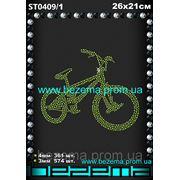 Стразы Велосипед (1шт.на листе) фото