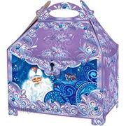 """Новогодняя коробка под подарки """"Сундук"""" с тиснением 1,3 кг фото"""