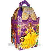 """Новогодняя коробка под подарок Замок - """"Принцессы"""" 1кг фото"""