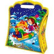 """Новогодняя упаковка Пакет """"Зимние забавы"""" 1,0кг фото"""