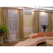 Гардины тюль, портьеры- шторы для гостинных. фото