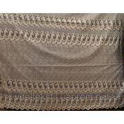Органза с вышивкой. Крем фото