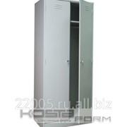 Металлический шкаф для одежды 2-х секционный фото