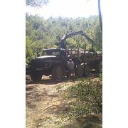 Лесовоз Урал 4320 с прицеп-розпуском