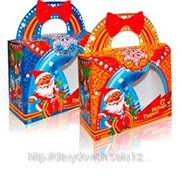 """Новогодняя упаковка """"Ларец с окном"""" 1,2кг фото"""