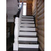 Лестница для дома с подшивкой маршей фото