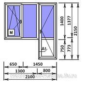 Балконный блок 2100Х2150 фото