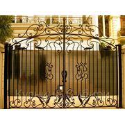 Кованые ворота в Омске фото